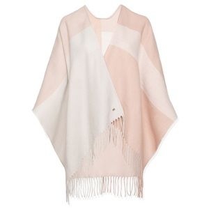 SOIA & KYO Pink Woven Scarf/Shawl with Fringe